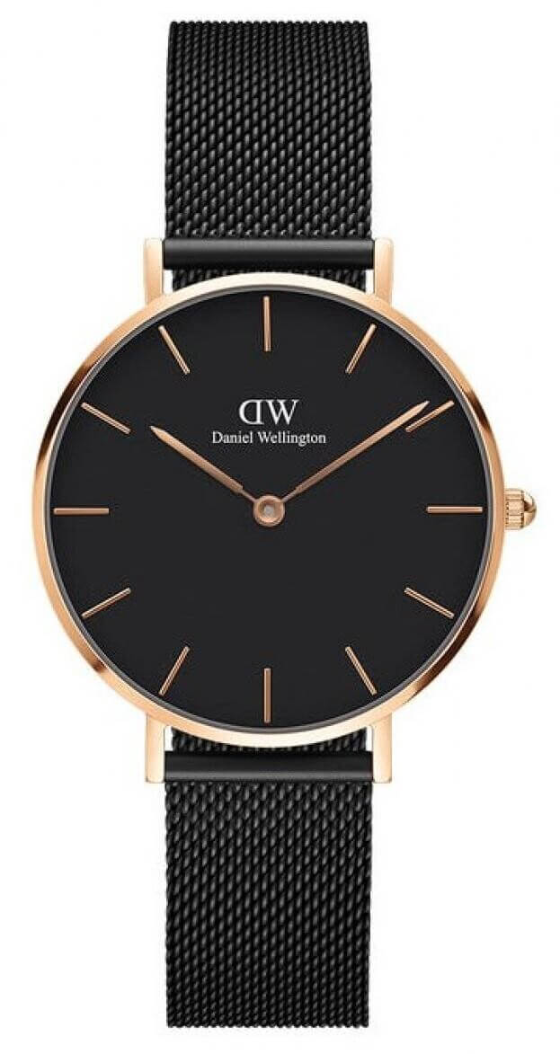 DANIEL WELLINGTON CLASSIC PETITE ASHFIELD 32mm Μαύρο Καντράν ρολόι