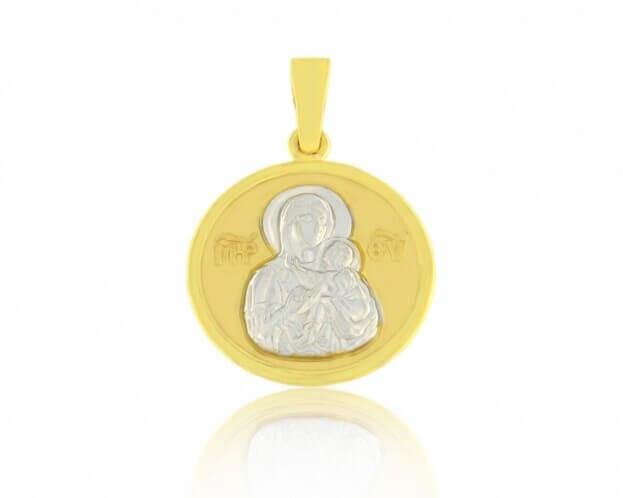 FACADORO Κωνσταντινάτο Κίτρινος & Λευκός Χρυσός Κ14