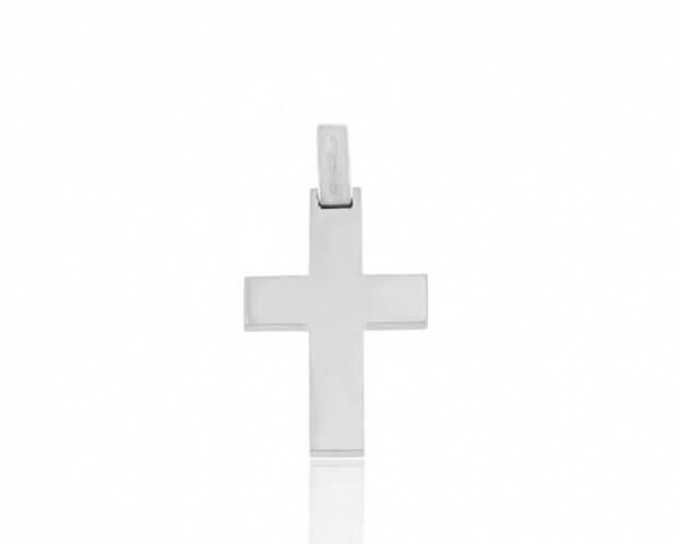 FACADORO Σταυρός Βαπτιστικός Λευκός Χρυσός Κ18