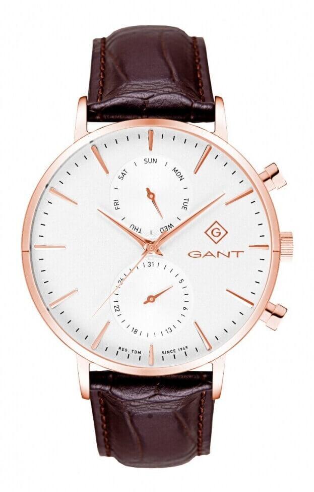 GANT Park Hill Day-Date II 43.5mm Λευκό Καντράν Ανδρικό Ρολόι
