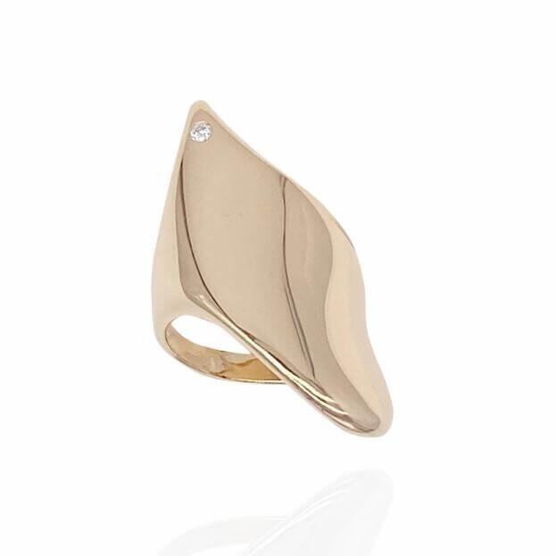 GAVELLO Δαχτυλίδι SNAIL Corpo Collection Ροζ Χρυσό Κ18 με Μπριγιάν
