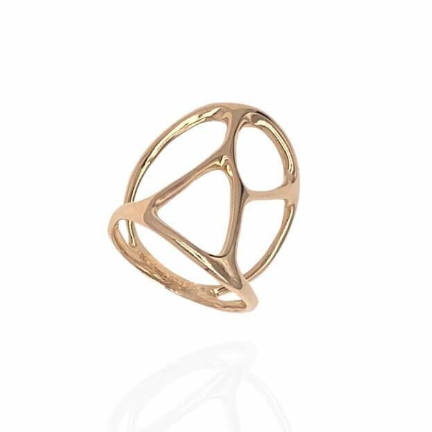 GAVELLO Δαχτυλίδι ROOTS Divina Collection Ροζ Χρυσό Κ18