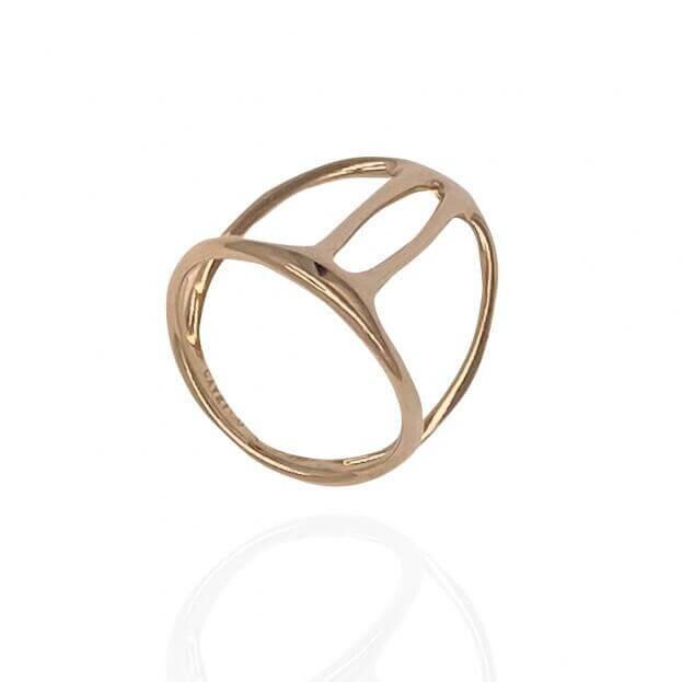 GAVELLO Δαχτυλίδι DOUBLE Divina Collection Ροζ Χρυσό Κ18