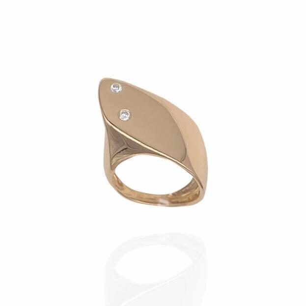 GAVELLO Δαχτυλίδι WINGS Corpo Collection Ροζ Χρυσό Κ18 με Μπριγιάν