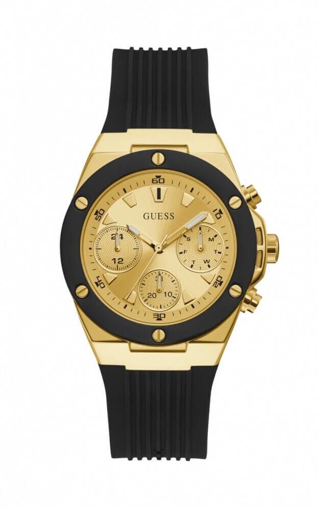 GUESS ATHENA Quartz Χρονογράφος 39mm Χρυσό Καντράν Γυναικείο Ρολόι
