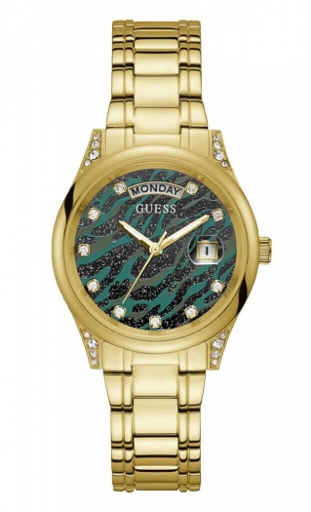 GUESS AURA Quartz 36mm Πολύχρωμο Καντράν Γυναικείο Ρολόι