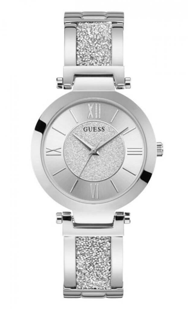 GUESS AURORA Quartz 36mm Ασημί Καντράν Γυναικείο Ρολόι