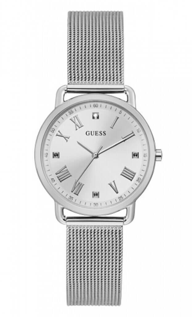 GUESS AVERY Quartz 34mm Ασημί Καντράν Γυναικείο Ρολόι