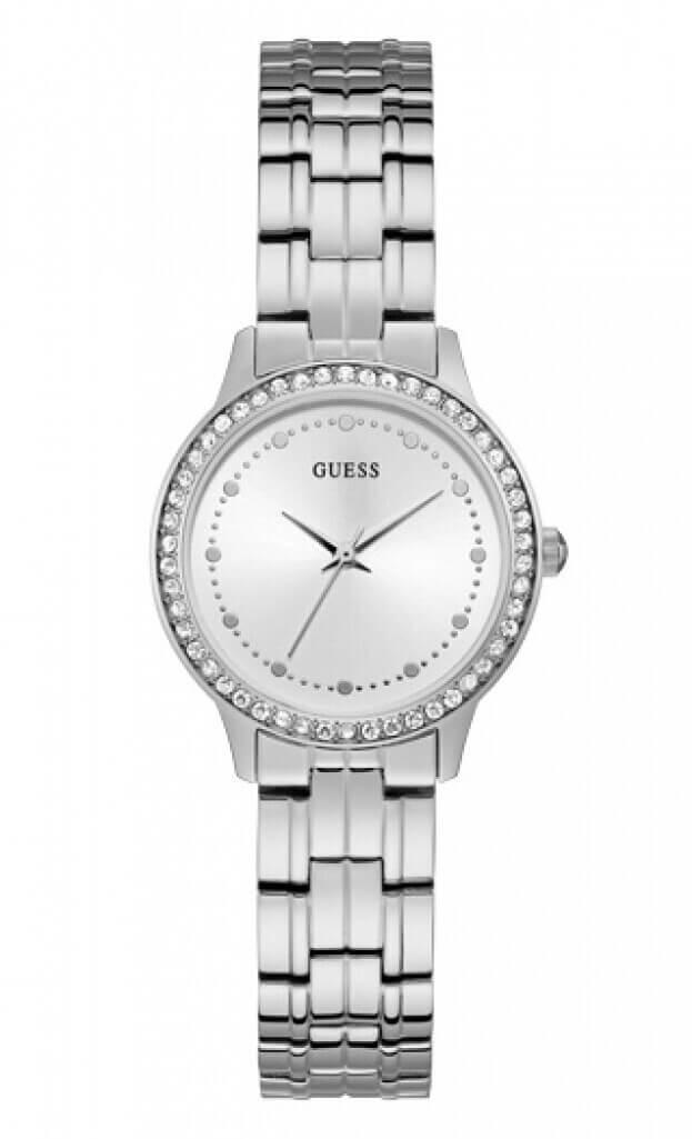 GUESS CHELSEA Quartz 30mm Ασημί Καντράν Γυναικείο Ρολόι