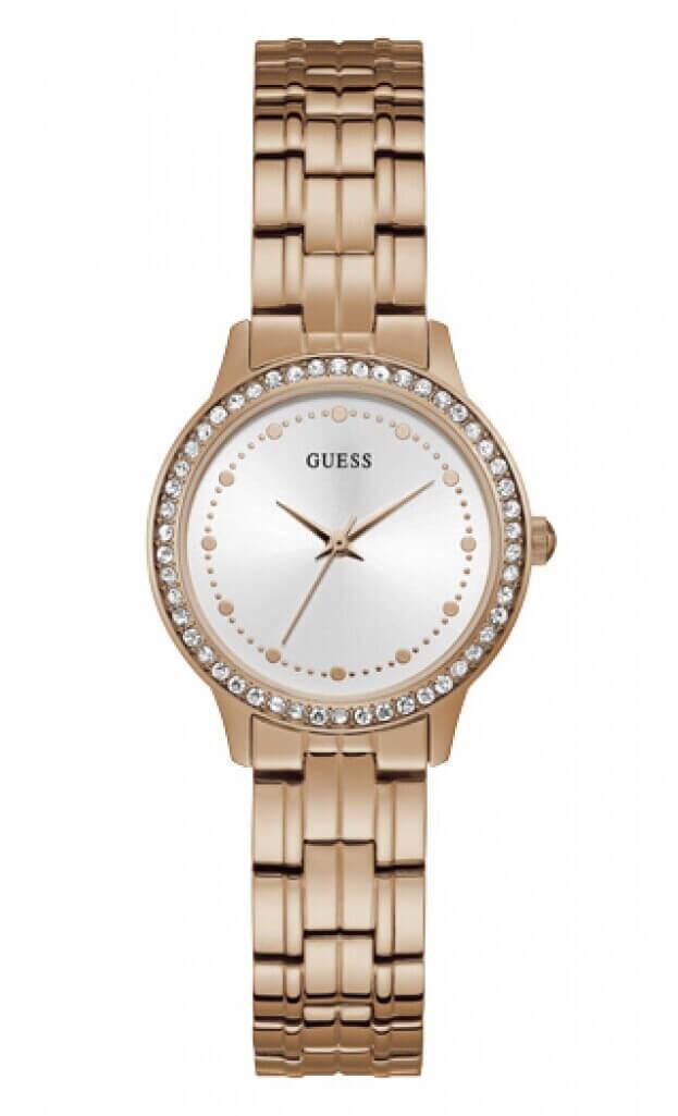 GUESS CHELSEA Quartz 30mm Λευκό Καντράν Γυναικείο Ρολόι