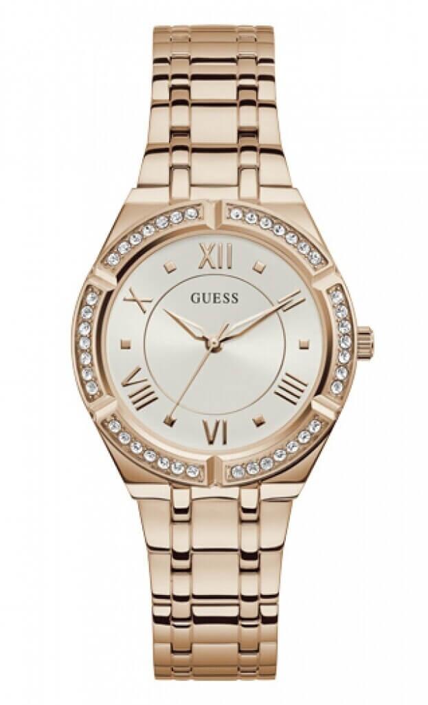 GUESS COSMO Quartz 36mm Μπεζ Καντράν Γυναικείο Ρολόι