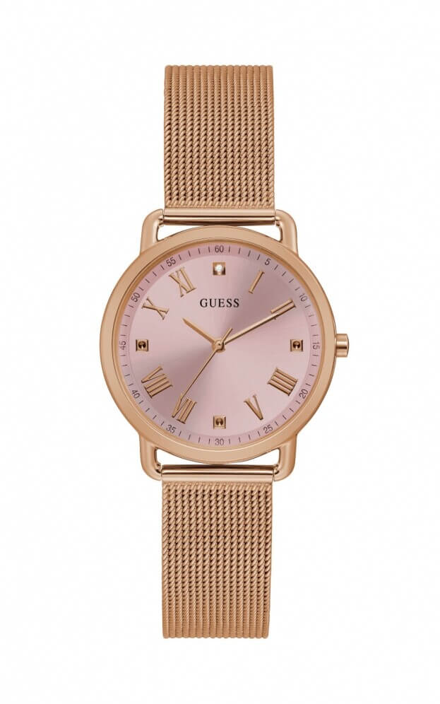 GUESS AVERY Quartz 36mm Ροζ Χρυσό Καντράν Γυναικείο Ρολόι
