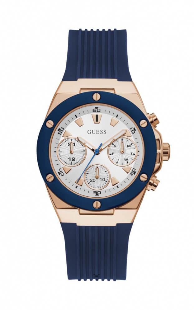 GUESS ATHENA Quartz 39mm Χρονογράφος Λευκό Καντράν Γυναικείο Ρολόι