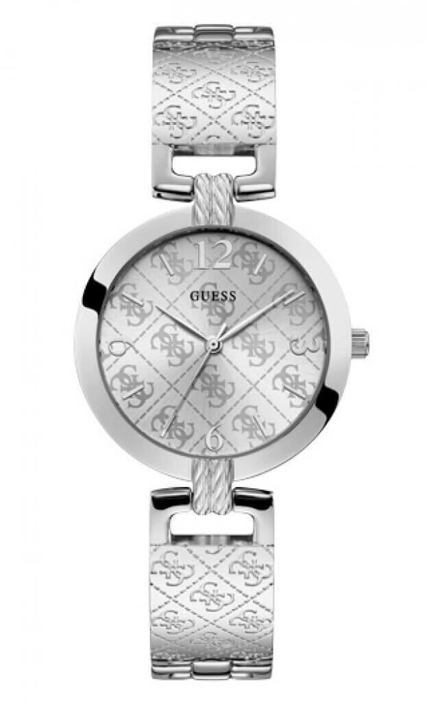 GUESS G LUXE Quartz 35mm Ασημί Καντράν Γυναικείο Ρολόι