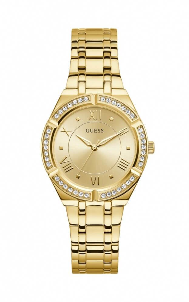 GUESS COSMO Quartz 36mm Χρυσό Καντράν Γυναικείο Ρολόι
