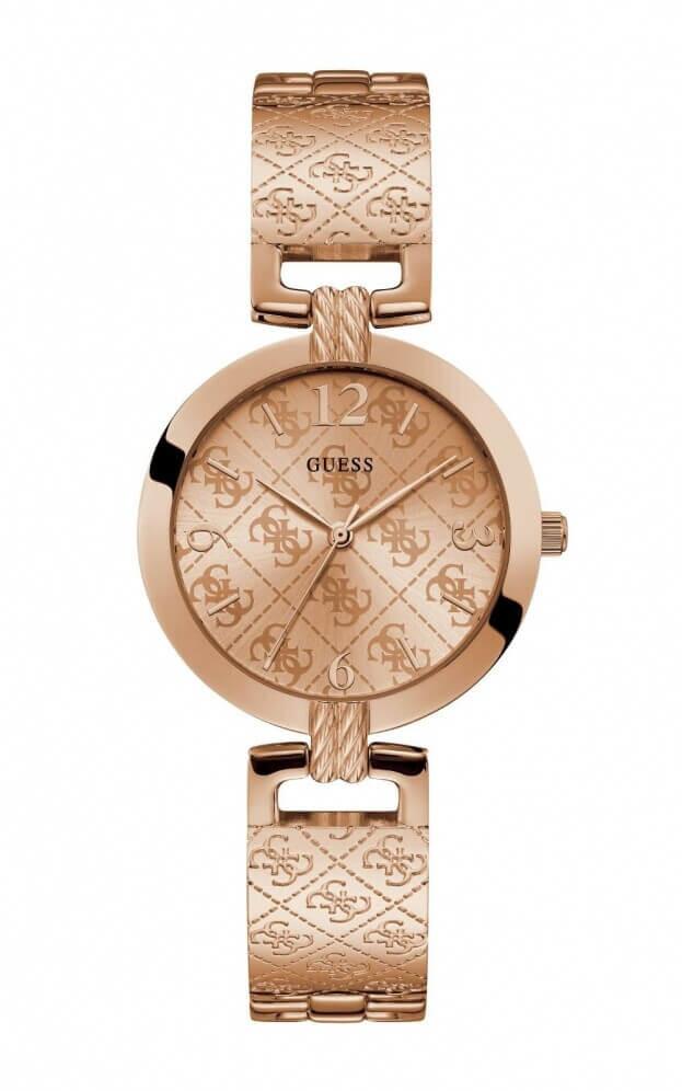 GUESS G LUXE Quartz 35mm Ροζ Χρυσό Καντράν Γυναικείο Ρολόι