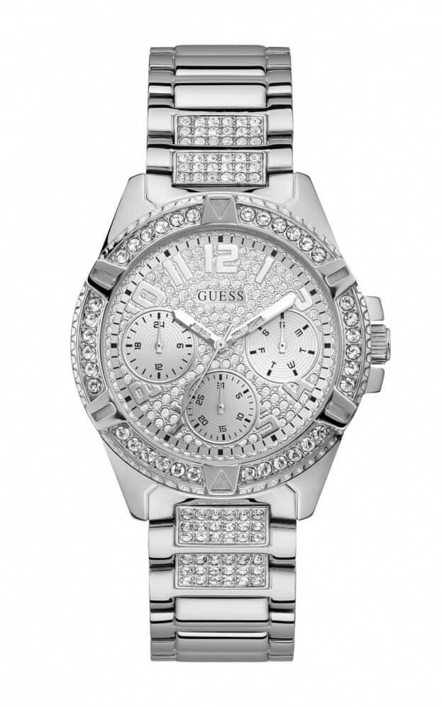 GUESS LADY FRONTIER Quartz 40mm Ασημί Καντράν Γυναικείο Ρολόι