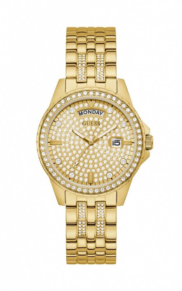 GUESS LADY COMET Quartz 38mm Χρυσό Καντράν Γυναικείο Ρολόι