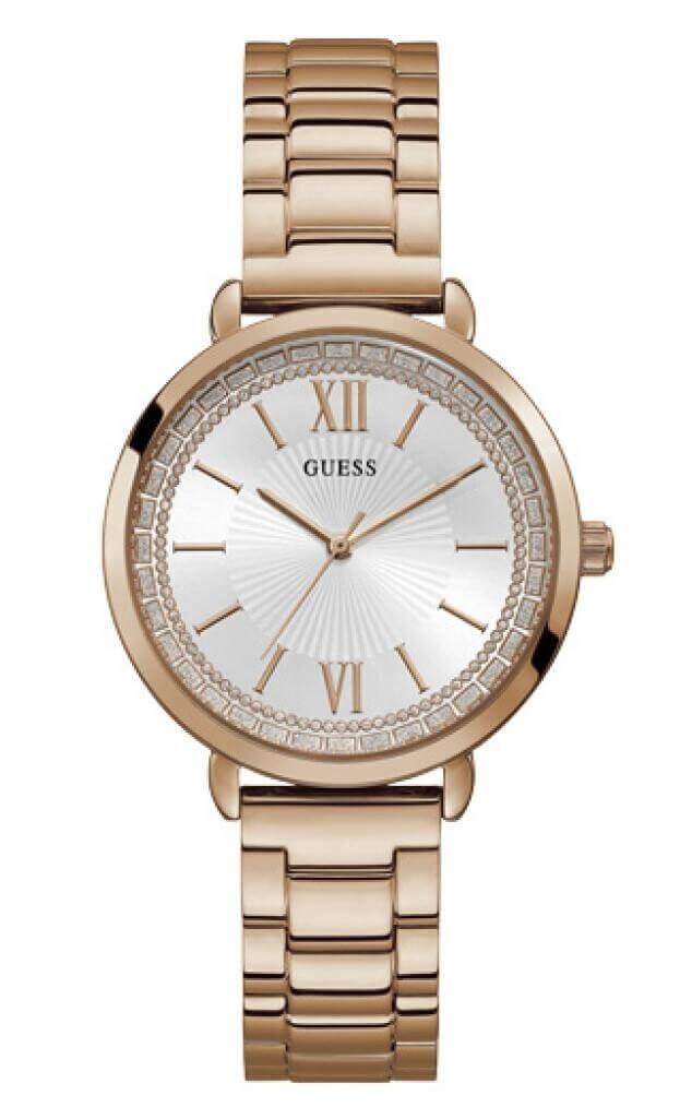 GUESS POSH Quartz 38mm Λευκό Καντράν Γυναικείο Ρολόι