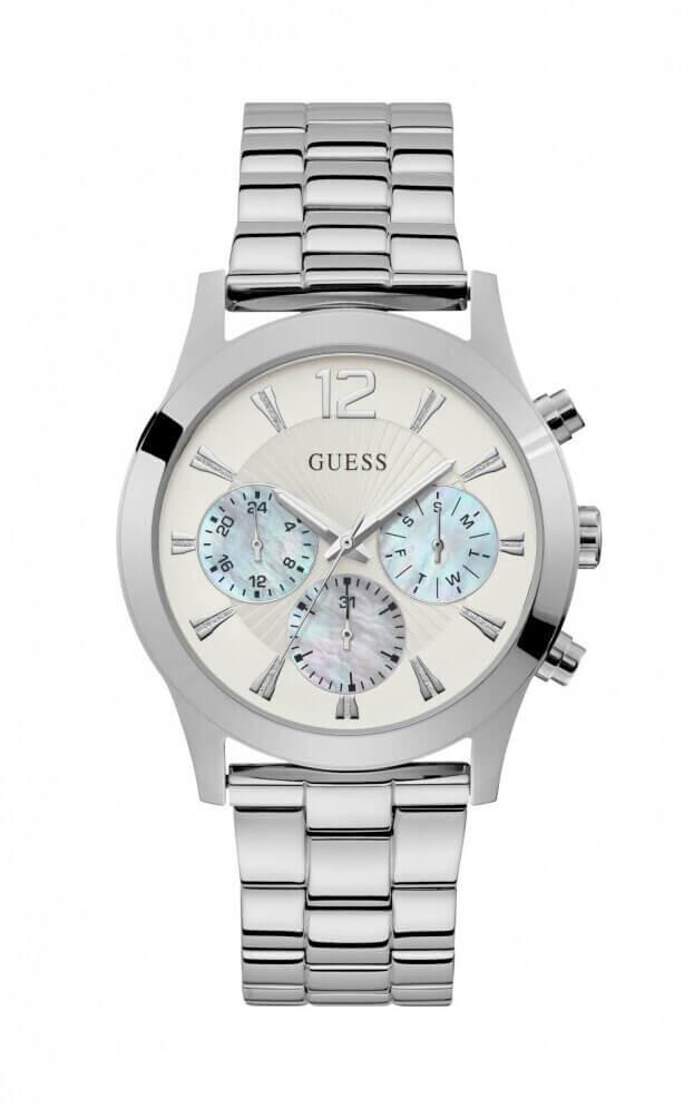 GUESS SKYLAR Quartz Χρονογράφος 42mm Λευκό Καντράν Γυναικείο Ρολόι