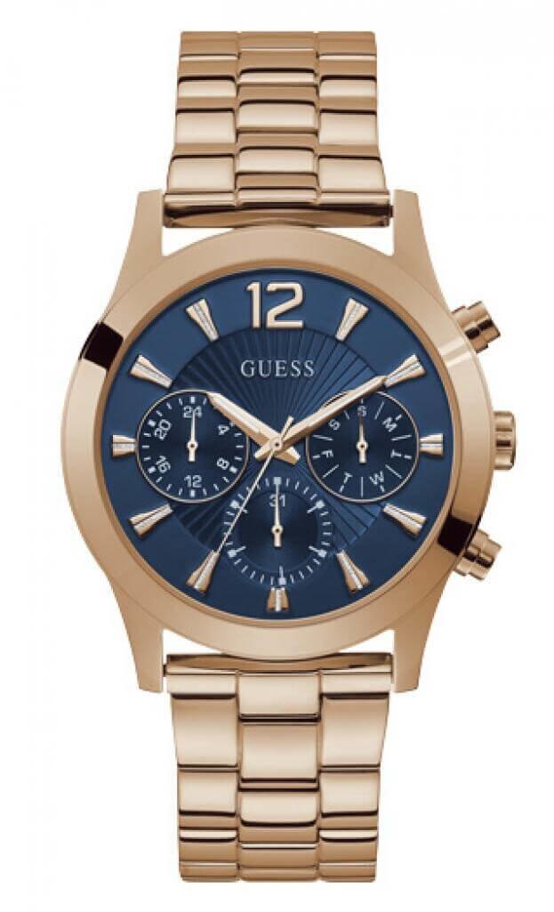 GUESS SKYLAR Quartz Χρονογράφος 42mm Μπλε Καντράν Γυναικείο Ρολόι