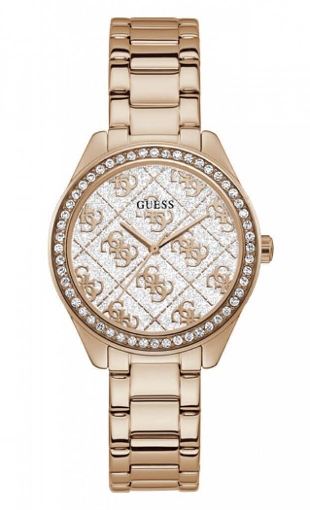 GUESS SUGAR Quartz 37mm Ροζ Χρυσό Καντράν Γυναικείο Ρολόι