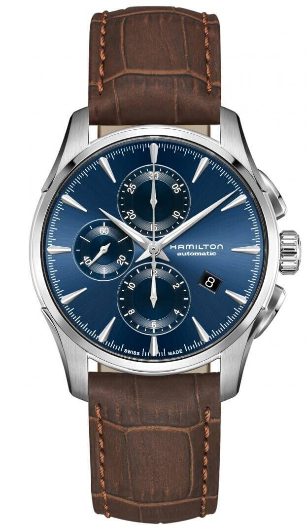 HAMILTON  Jazzmaster Auto Chrono 42mm Μπλε Καντράν Ανδρικό Ρολόι
