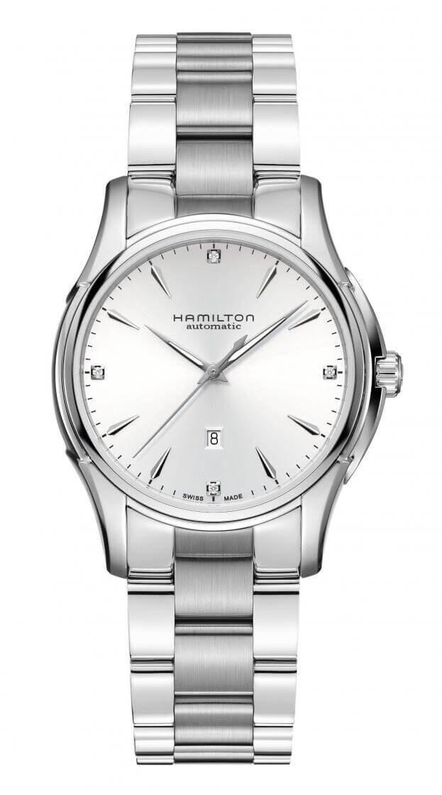 HAMILTON Jazzmaster Lady Auto 34mm Λευκό Καντράν Γυναικείο Ρολόι