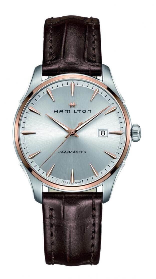 HAMILTON  Jazzmaster Gent Quartz 40mm Ασημί Καντράν Ανδρικό Ρολόι