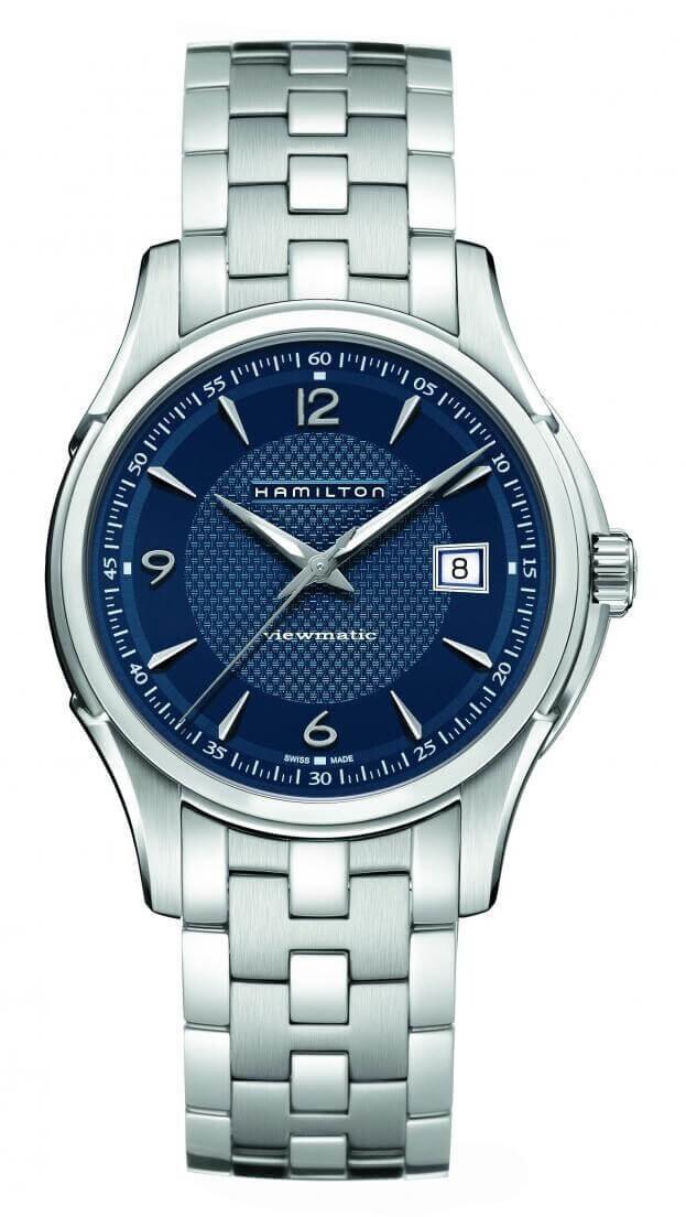HAMILTON Jazzmaster Viewmatic Auto 40mm Μπλε Καντράν Ανδρικό Ρολόι