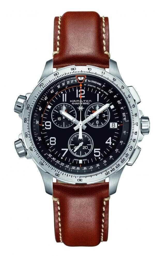 HAMILTON  Khaki Aviation X-Wind GMT Chrono Quartz 46mm Μαύρο Καντράν