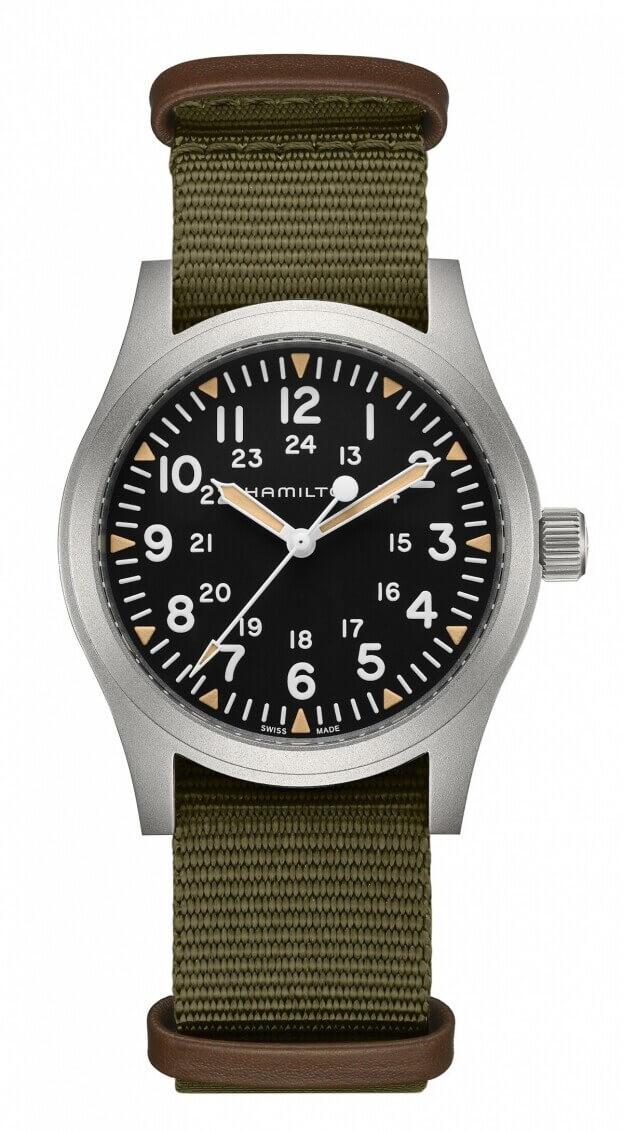 HAMILTON KHAKI FIELD MECHANICAL 42mm Μαύρο Καντράν Ανδρικό Ρολόι