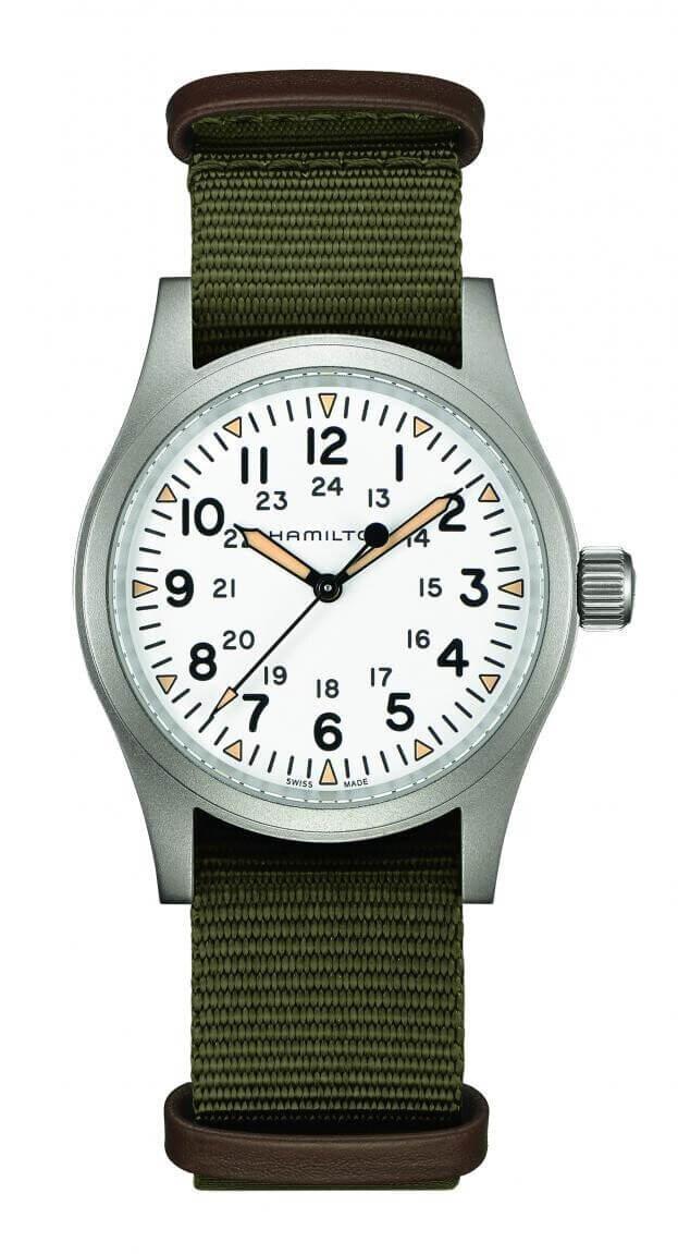 HAMILTON Khaki Field Mechanical 38mm Λευκό Καντράν Ανδρικό Ρολόι