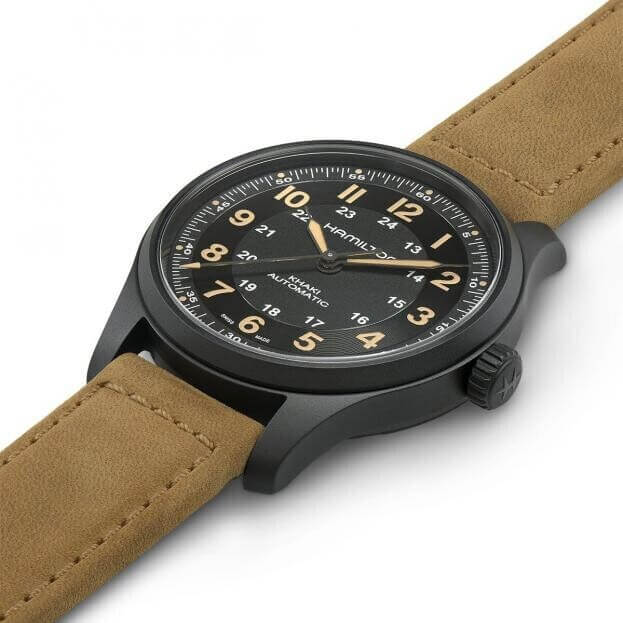 HAMILTON Khaki Field Titanium Automatic 42mm Μαύρο Καντράν Ανδρικό Ρολόι