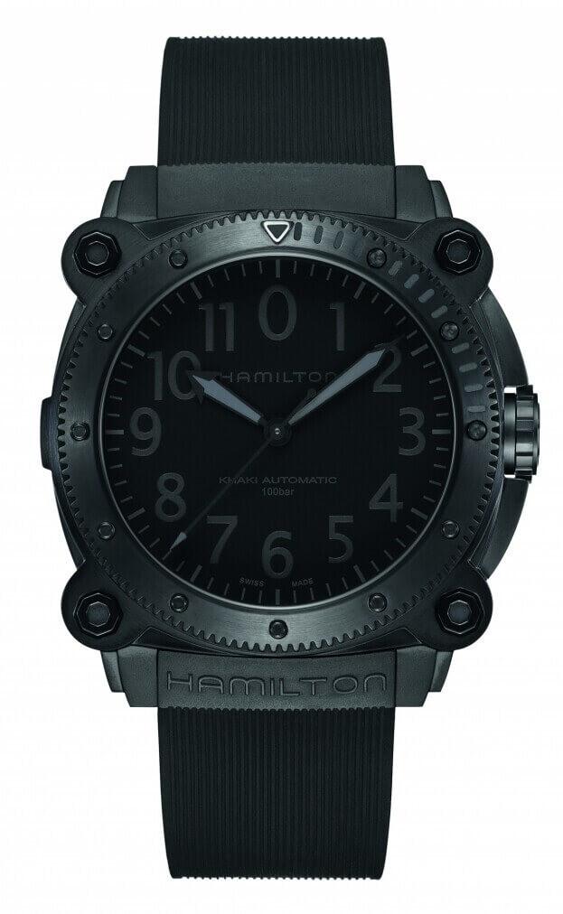 HAMILTON Khaki Navy BeLOWZERO Auto Titanium 46mm Black Dial Mens Watch