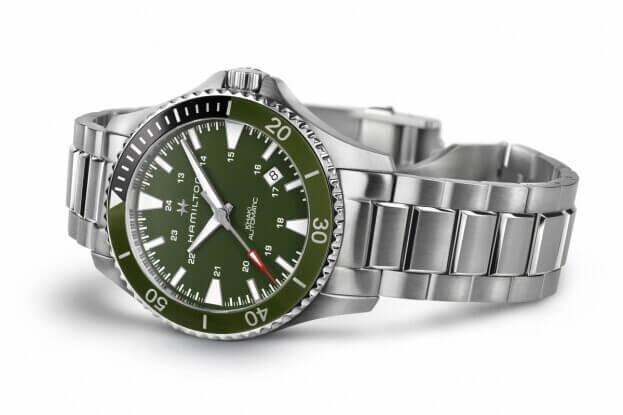 HAMILTON Khaki Navy Scuba Automatic 40mm Πράσινο Καντράν Ανδρικο Ρολόι