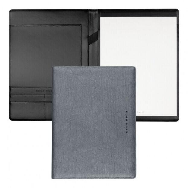 HUGO BOSS Folder A4 Gleam Ντοσιέ Σημειωματάριο Γκρι