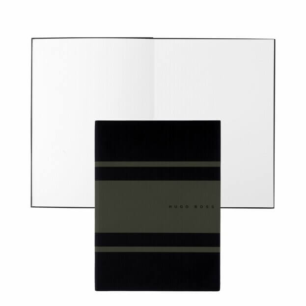 HUGO BOSS Gear Matrix Notepad Ντοσιέ Α5 Μαύρο/Γκρι