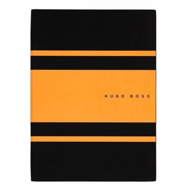 HUGO BOSS Gear Matrix Notepad Ντοσιέ Α5 Μαύρο/Κίτρινο