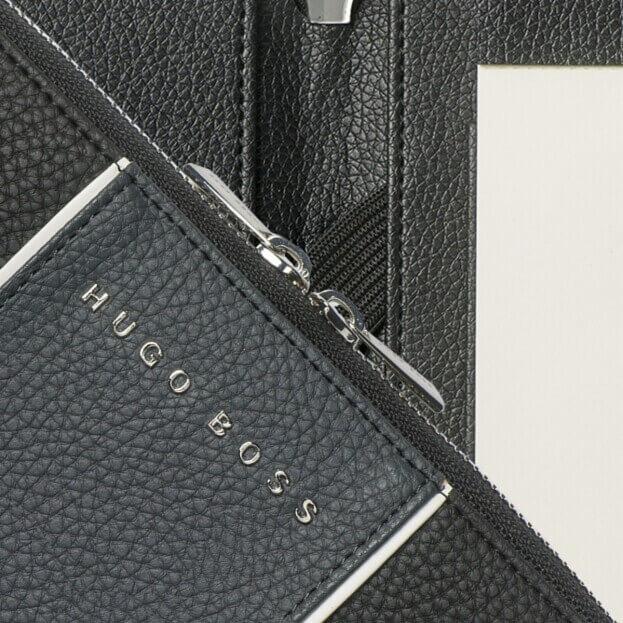 HUGO BOSS Gear Conference Folder Ντοσιέ Α5 Μαύρο/Γκρι
