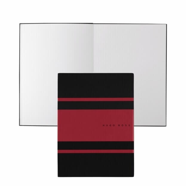 HUGO BOSS Gear Matrix Notepad Ντοσιέ Α5 Μαύρο/Κόκκινο