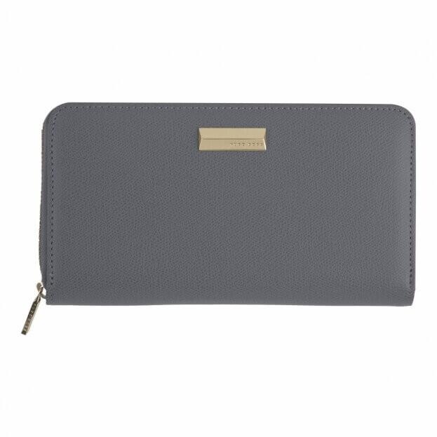 HUGO BOSS Πορτοφόλι-Σημειωματάριο με φερμουάρ Γκρι