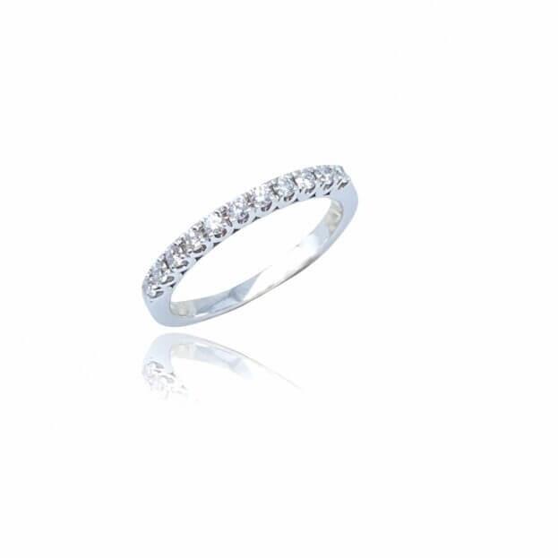 Inglessis Collection Δαχτυλίδι Λευκός Χρυσός Κ18 με Μπριγιάν
