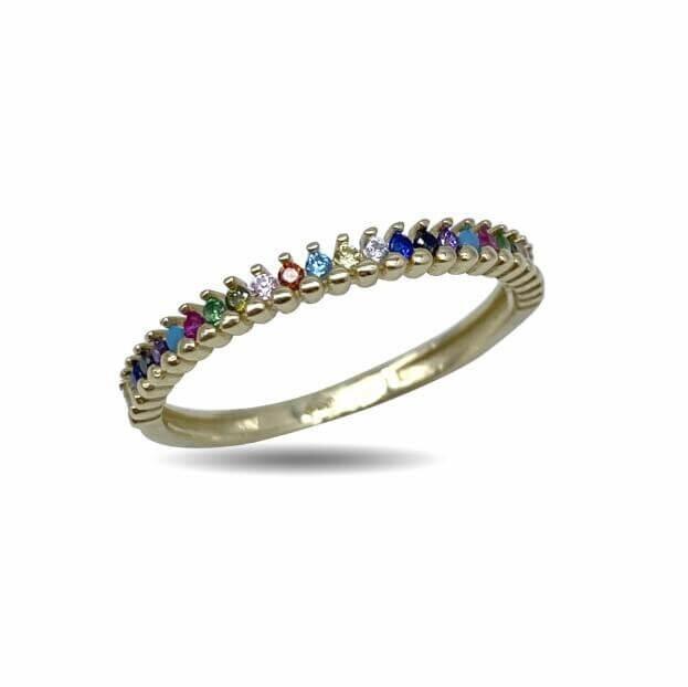 Inglessis Collection Δαχτυλίδι Rainbow Κίτρινος Χρυσός Κ14