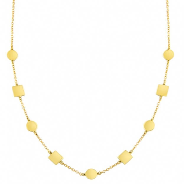 Inglessis Collection Κολιέ Κίτρινο Χρυσό Κ14
