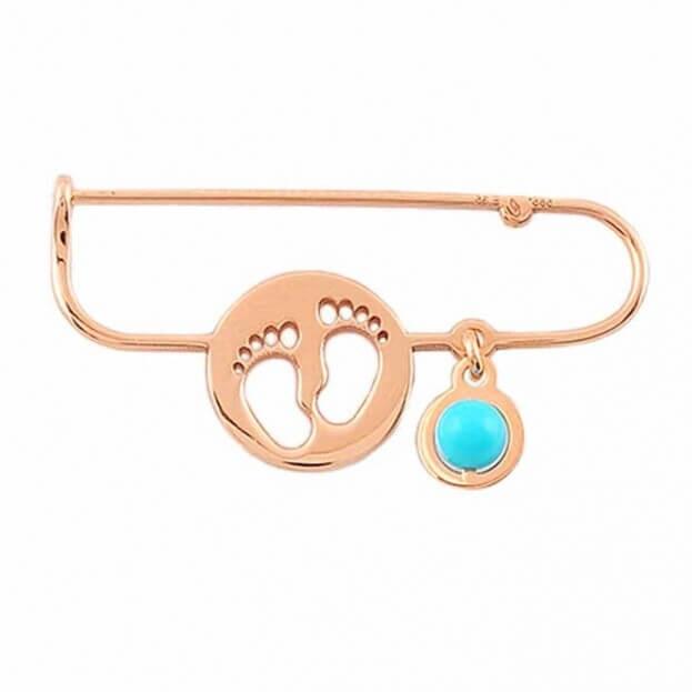 Inglessis Collection Παιδικό Κόσμημα Ροζ Χρυσός Κ14 Παραμάνα για νεογέννητο