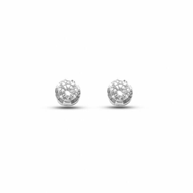Inglessis Collection Earrings White Gold Κ18 with Diamond