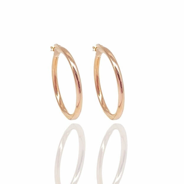Inglessis Collection Earrings Rose Gold Κ14