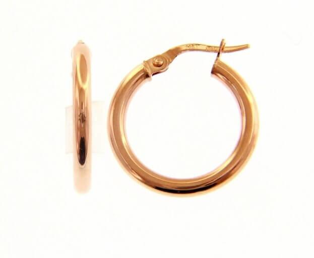 Inglessis Collection Σκουλαρίκια Ροζ Χρυσός Κ14 Κρίκοι