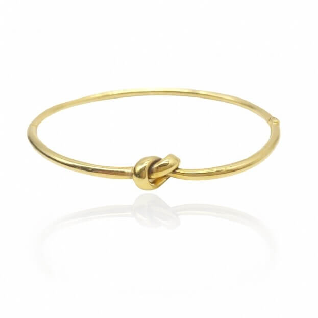 Inglessis Collection Βραχιόλι Κίτρινος Χρυσός Κ14 Χειροπέδα